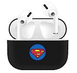Силиконовый чехол с супергероями IQEA для наушников Apple AirPods Pro Цвет чёрный Супермен, фото 2