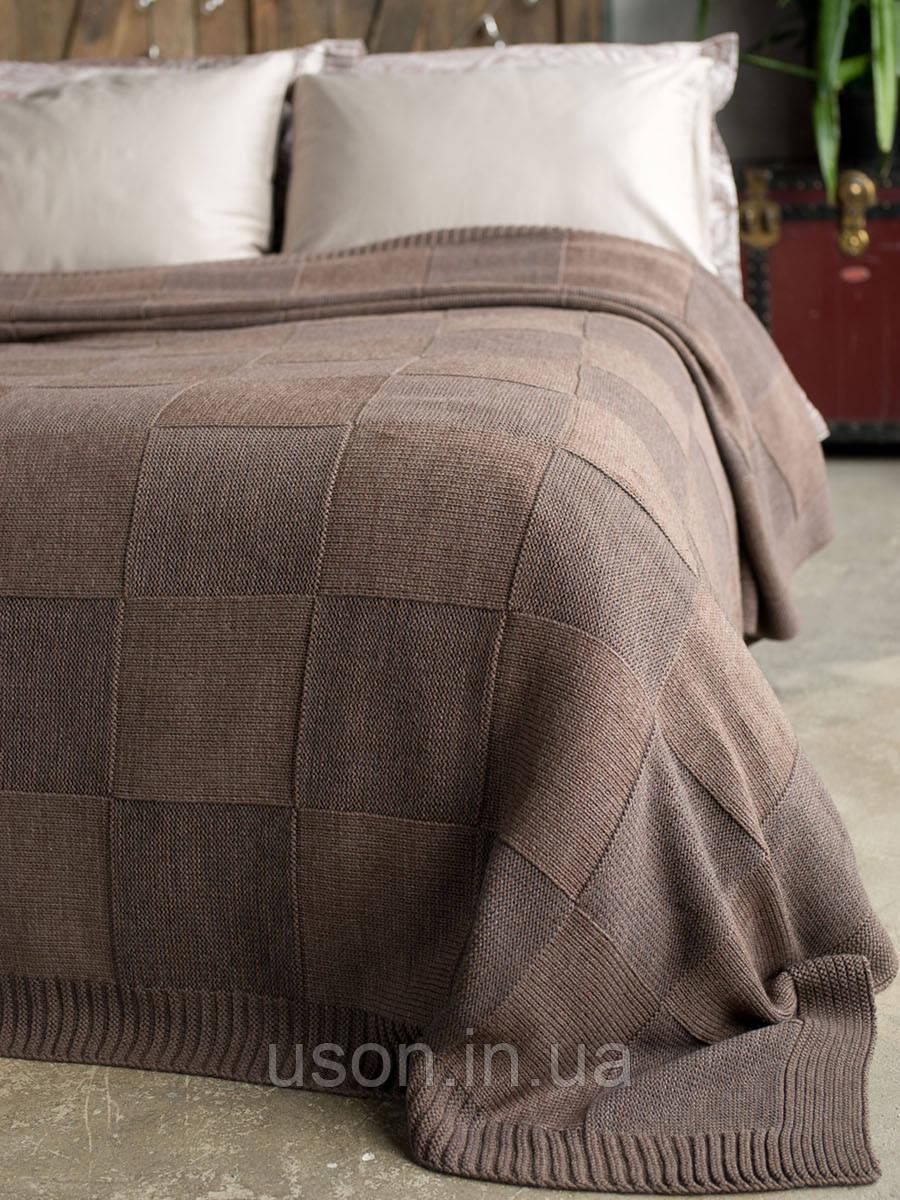 Плед-покрывало вязаное 220x240 BETIRES aspen dark brown