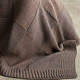 Плед-покрывало вязаное 220x240 BETIRES aspen dark brown, фото 2