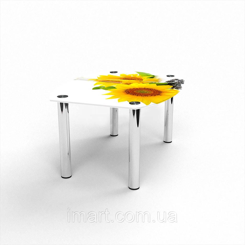 Журнальный стол Бочка Sunflower стеклянный