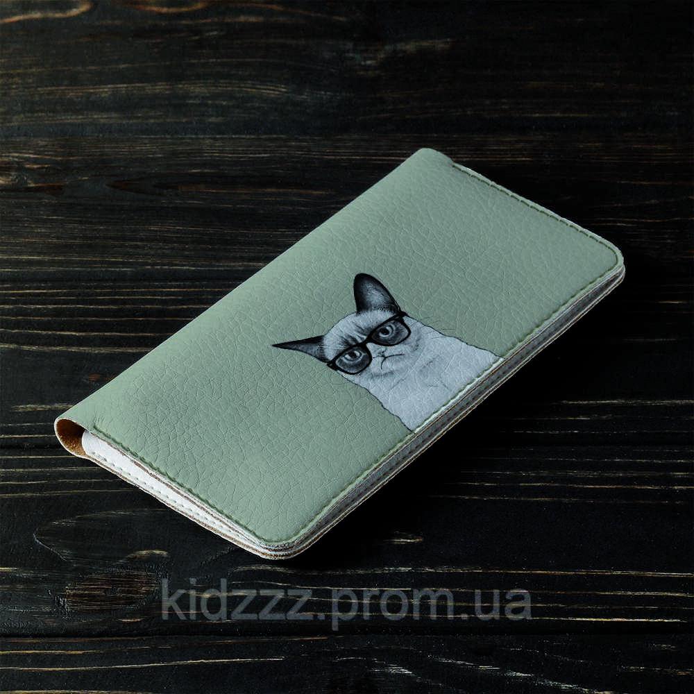 Портмоне v.2.0. Fisher Gifts 191 Унылый кот (эко-кожа)