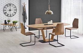 Стол BLACKY золотой дуб/черный 160(220)х90 (Halmar)
