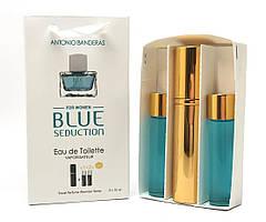 Мини-парфюм с феромонами женский ANTONIO BANDERAS Blue Seduction 3х15 мл