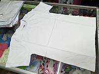 Детская подростковая однотонная белая футболка р.128-158