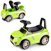 Машина-каталка Master Play  (салатовый), открывается капот, сиденье, светятся фары, муз.руль, в коробке