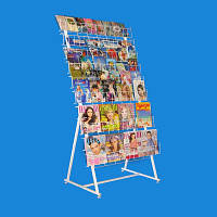 Торговая стойка для полиграфии на 10 полок