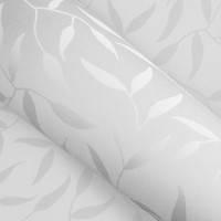 Красивые рулонные шторы на окна листики цвет Белый