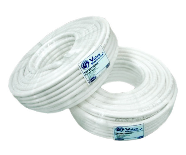 Коаксиальный кабель VE RG6U-32W6*100м, сечение 1,02 мм.плотность  экра 25%,75 Ом  (White) - Запорожский Инструмент в Запорожье