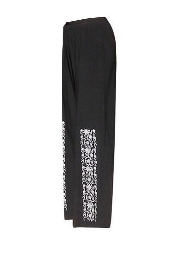 Трикотажные брюки с поясом Писанка