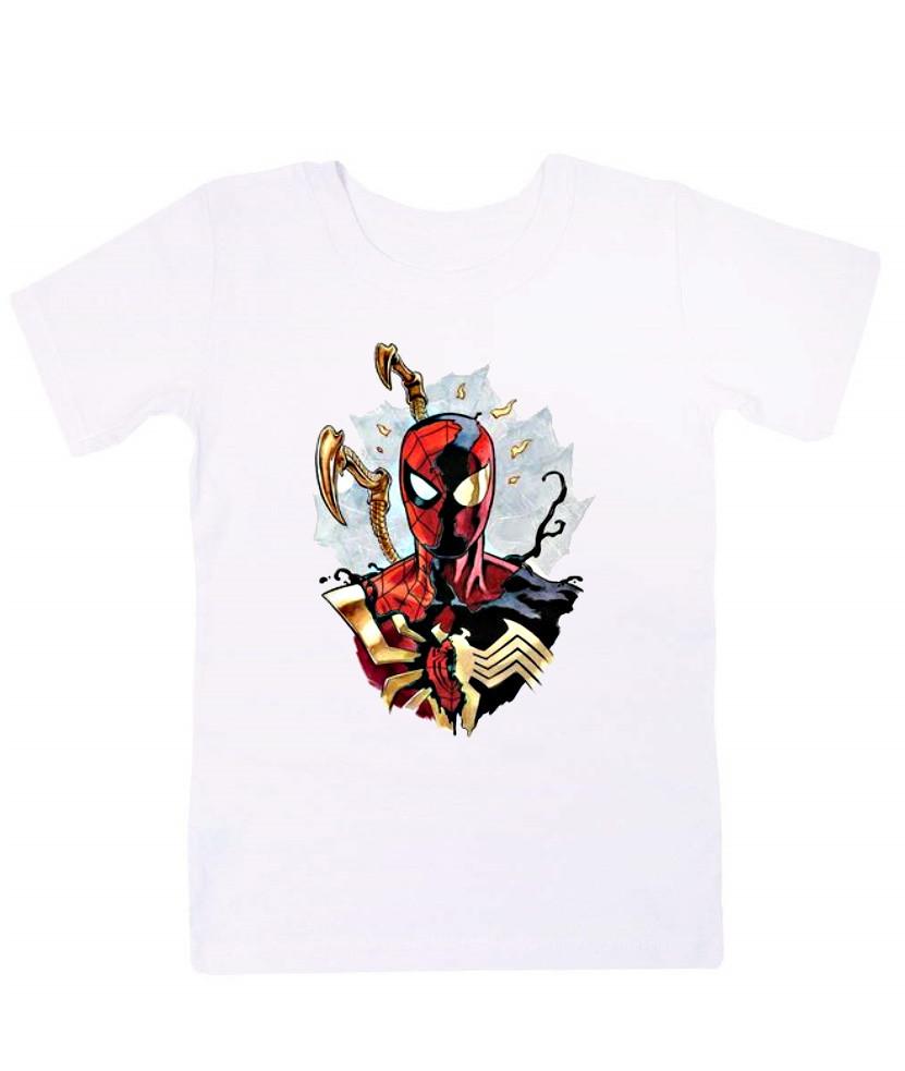 Детская прикольная футболка Человек паук