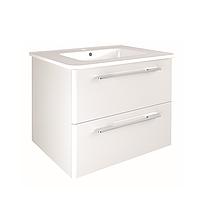 C0072912 KLEA Комплект мебели: тумба+раковина+зеркало 80см, белый глянцевый