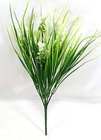 """Белый""""колос"""" 33см,искусственный куст зелени из пластика, фото 1"""