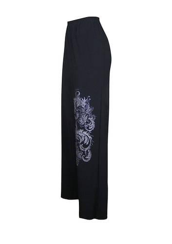 Трикотажные широкие брюки Узор