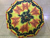 Женский дешевый зонт полуавтомат 8 спиц  2 сложения с рисунком