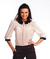 Красивая женская блуза из ткани крепшифон