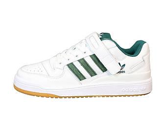 """Мужские кроссовки Adidas Forum """"White/Green"""" (копия)"""