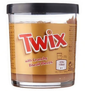 Шоколадна паста Twix With Crunchy Biscuit Pieces 200 г