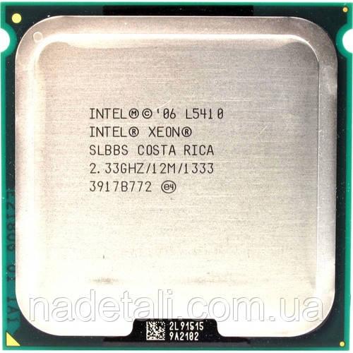 Процессор 4 ядра  Intel Xeon L5410 Quad-Core КЕШ 12MB работает на материнской плате s775