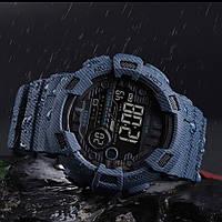 Оригинальные спортивные мужские часы Skmei 1472 , 1243 Champion Черные  тактические