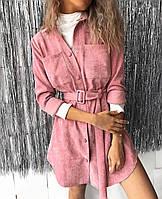 Платье стильное с поясом в расцветках 51996, фото 1