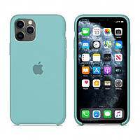 Чехол Apple Silicone Case iPhone 11 Pro Sea blue