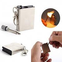Огниво кресало  зажигалка вечная спичка Make Fire квадратная