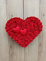 Червоне серце з троянд, фото 1