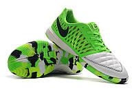 Футзалки (бампы) Nike Lunar Gato II IC White/Anthracite/Electric Green, фото 1
