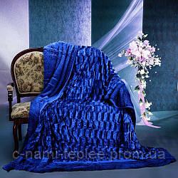 Плед норка 220х240 см Синий