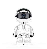 Цифровая IP камера видеонаблюдения Robot FullHD 1080P Wi-Fi поворотная Белая