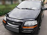 Дефлектор капота Chevrolet Aveo с 2003-2006 седан с 2003-2008 х/б г.в. Шевроле Авео Vip Tuning