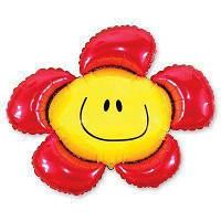 Цветок красный 88х104 см Flexmetal Испания фольгированный шар
