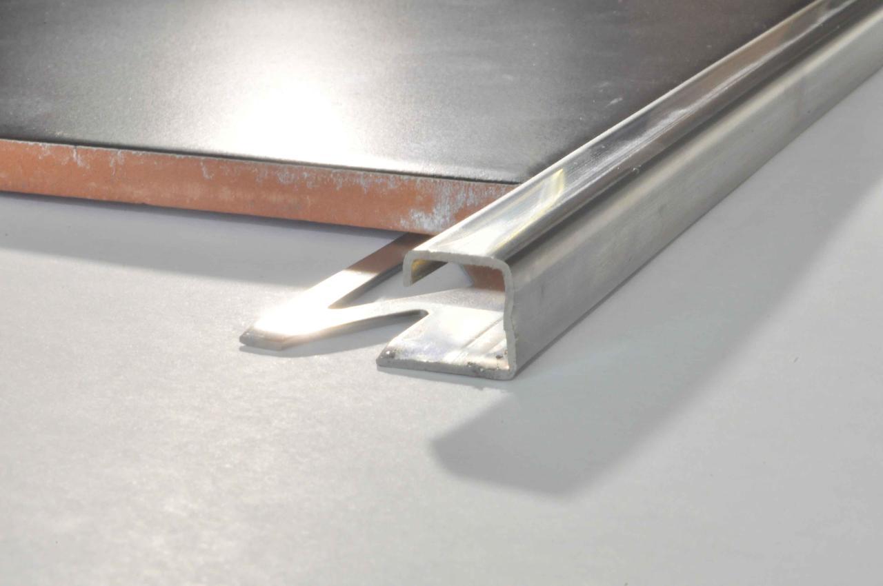 Уголок наружный для плитки квадратный Pawotex 11 мм 2.5 м нержавеющая сталь STQ11
