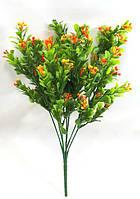 """Искусственный куст """"барбариса 32см"""",цвет зеленый с оранжевым"""