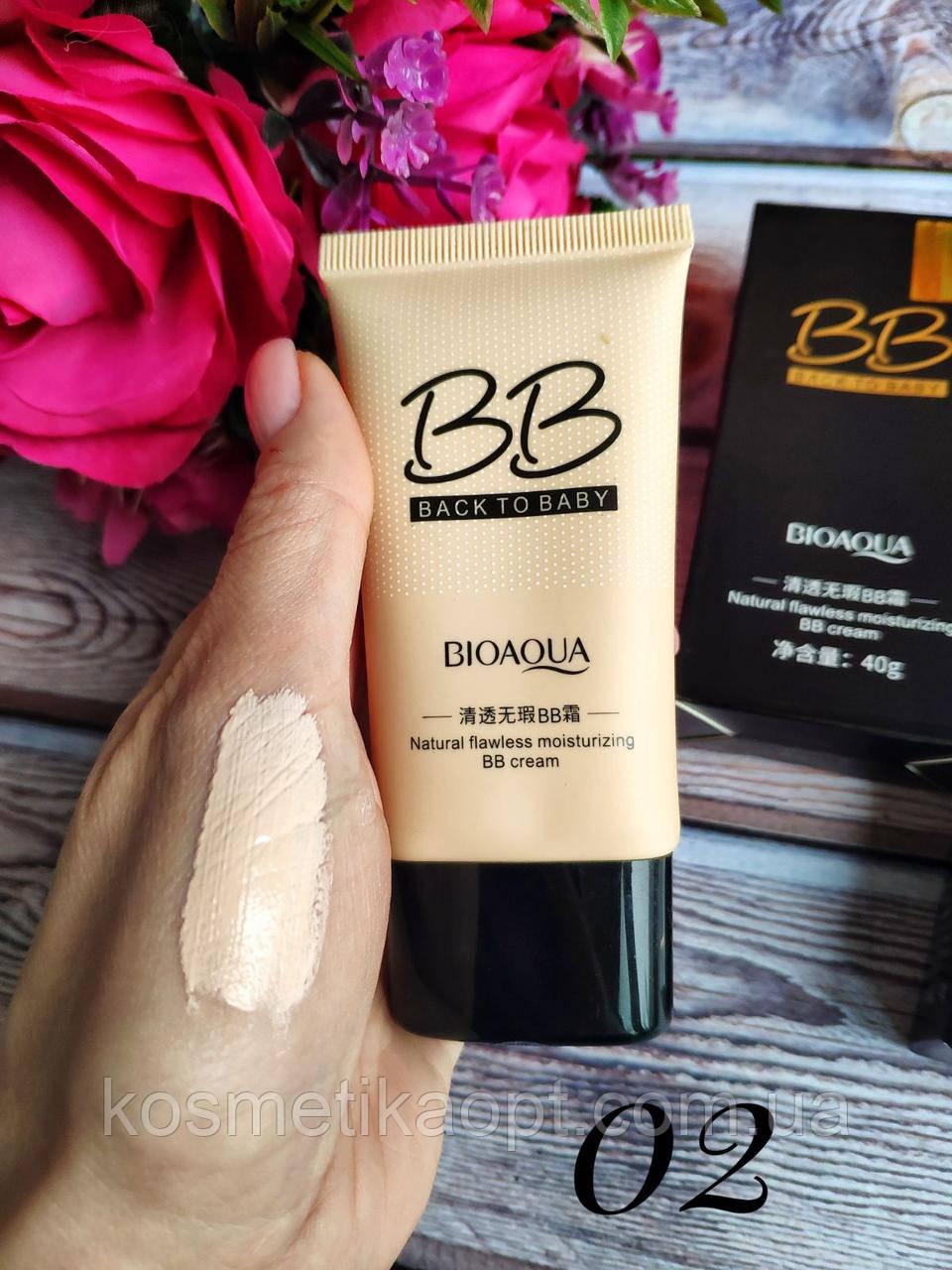 BioAqua Back to Baby BB Cream Увлажняющий BB крем, 40 грамм ТОН 02 Светлый беж