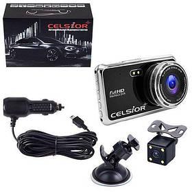 Автомобильный цифровой видеорегистратор CELSIOR DVR F805D FHD двухкамерный (DVR F805D FHD)