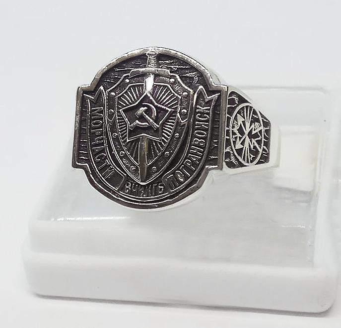 Кольцо серебряное Морчасти Погранвойск  КЦ-37 Б