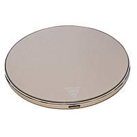 Беспроводное зарядное устройство Qi Quick Charge 3.0 10W Metal Slim gold, фото 1
