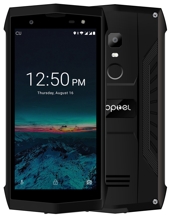 Poptel P8 black IP68, NFC