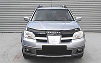 Дефлектор капота Mitsubishi Outlander с 2001-2007г.в (Митсубиси Аутландер) Vip Tuning