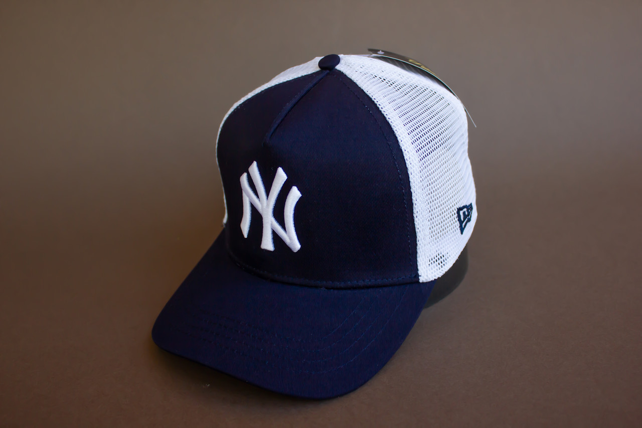 Кепка темно-синяя New York с сеткой