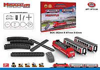 "Поїзд батар. залізниця PLAY SMART 9712-2A (8шт) ""Молния"" на Р/К батар., світ., муз., в кор. 58,2*6,3*41,1 см"