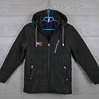 """Куртка детская демисезонная """"Tommy""""  6-7-8-9-10 лет (116-140 см). Хаки темная. Оптом., фото 1"""