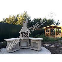 Камин-барбекю садовый «Рио» угловой в комплекте, фото 3