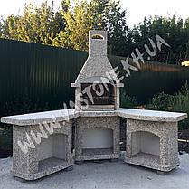 Камин-барбекю садовый «Рио» угловой в комплекте, фото 2