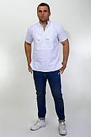 Мужская вышиванка на домотканном льне, фото 1