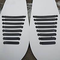 Шнурки силиконовые Coolnice черные (8+8 штук), фото 1