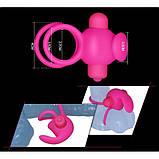 Насадка для пениса с двойным вибратором мягкий, эластичный силикон, фото 3