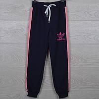 """Спортивные штаны подростковые """"Adidas реплика"""" 8-9-10-11-12  лет (92-116 см). Темно-синие. Оптом"""