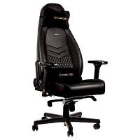 Крісло ігрове Noblechairs Icon Real Leather Black (GAGC-090)